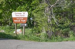 College M Trailhead