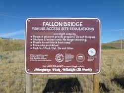 Fallon Bridge Fishing Access Site