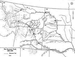 Little Piney Creek Map (Fort Phil Kearny Historic Site