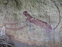 Panther Cave Pictograph