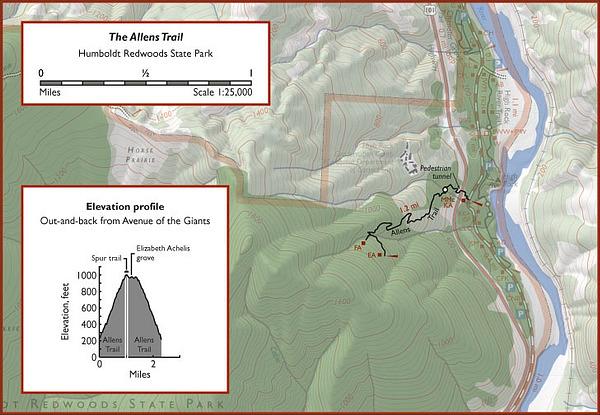 Eel River Map (Humboldt Redwoods State Park) – Natural Atlas on
